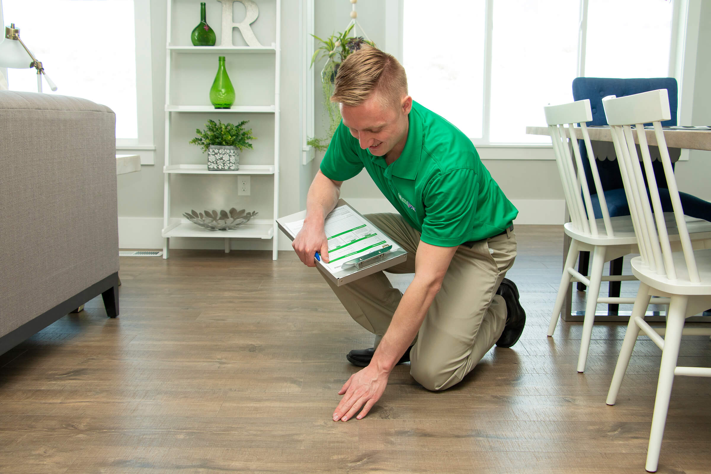 wood floor cleaning pre-examination
